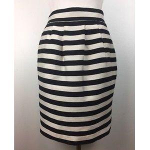 Banana Republic Black & Ivory stripe Skirt